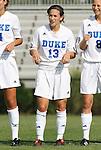 24 August 2008: Duke's Lorraine Quinn. The Duke University Blue Devils defeated the Coastal Carolina University Lady Chanticleers 9-0 at Koskinen Stadium in Durham, North Carolina in an NCAA Division I Women's college soccer game.