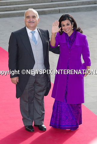 """PRINCE HASSAN AND PRINCESS SARVATH OF JORDAN.Wedding of HRH the Hereditary Grand Duke and Countess Stéphanie de Lannoy.Religious Ceremony at Cathedral of Our lady of Luxembourg, Luxembourg_20-10-2012.Mandatory credit photo: ©Dias/NEWSPIX INTERNATIONAL..(Failure to credit will incur a surcharge of 100% of reproduction fees)..                **ALL FEES PAYABLE TO: """"NEWSPIX INTERNATIONAL""""**..IMMEDIATE CONFIRMATION OF USAGE REQUIRED:.Newspix International, 31 Chinnery Hill, Bishop's Stortford, ENGLAND CM23 3PS.Tel:+441279 324672  ; Fax: +441279656877.Mobile:  07775681153.e-mail: info@newspixinternational.co.uk"""
