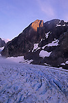 Alpenglow on Mt. Olympus above Blue Glacier, Olympic National Park, Washington