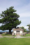 Photo shows a small temple in what was the main ward of the Nakajin Castle ruins in Nakajin VILLAGE, Okinawa Prefecture, Japan, on May 20, 2012. Photographer: Robert Gilhooly