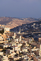 Daytime view of the Arab village of Silwan (Shiloah), near the southeastern corner of the Old City of Jerusalem.