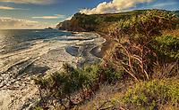 An extensive view of Pololu Valley and beyond, North Kohala, Big Island of Hawai'i.