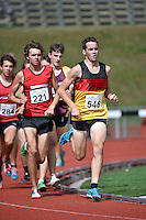 Michael Voss in action during the Athletics - NZ Track and Field Championships at Newtown Park, Newtown, New Zealand on Friday 6 March 2015. <br /> Photo by Masanori Udagawa. <br /> www.photowellington.photoshelter.com.