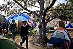 The Occupy UC Davis encampment on the Quad, November 28, 2011.