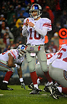 23 December 2007: New York Giants quarterback Eli Manning calls a time out against the Buffalo Bills at Ralph Wilson Stadium in Orchard Park, NY. The Giants defeated the Bills 38-21. ..Mandatory Photo Credit: Ed Wolfstein Photo