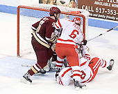 Patrick Wey (BC - 6), Joe Pereira (BU - 6), Sahir Gill (BU - 28) - The visiting Boston College Eagles defeated the Boston University Terriers 3-2 to sweep their Hockey East series on Friday, January 21, 2011, at Agganis Arena in Boston, Massachusetts.