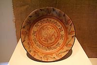 Mayan jaguar plate in the Museo Nacional de Antropologia David J. Guzman in San Salvador, El Salvador