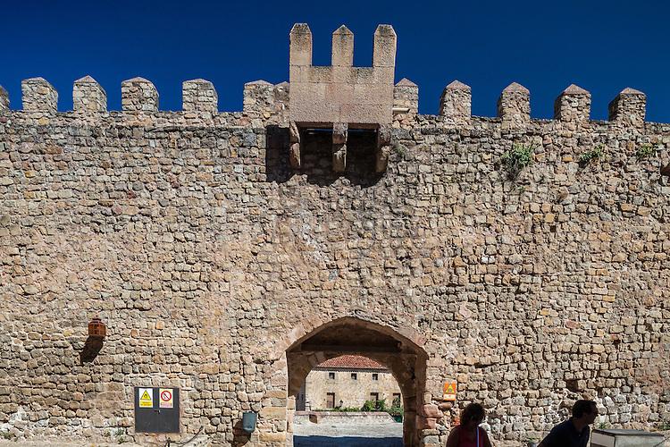 Parador de Sigüenza, a modern hotel in a Middle-Age castle, province of Guadalajara, Spain