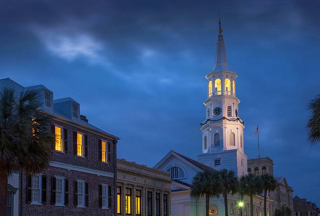 Charleston, South Carolina, Broad Street, Saint Michael's Church, Oldest In Charleston, National Historic Landmark, Colonial America