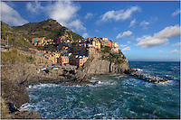 One of my favorite places in the world, the Cinque Terra, is a dream to explore. One of the 5 villages of the LIgurian Coast, it is virtually tourist-free in March. Normally, this is the rainy season there, but I was lucky with some blue skies for a day. This image of the Cinque Terre was taken from the Via dell'Amore, or walk of love.
