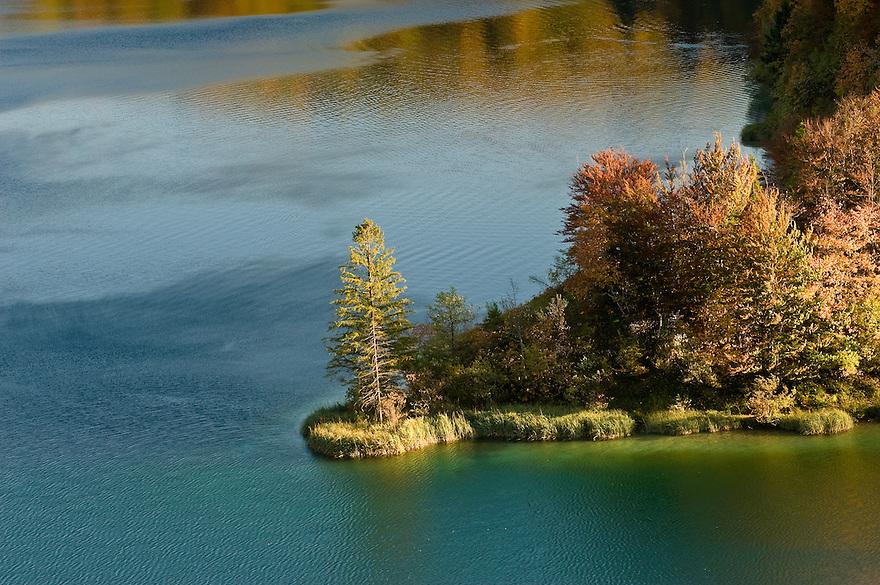 Kosjak lake in late afternoon, Lower Lakes, Plitvice National Park, Croatia