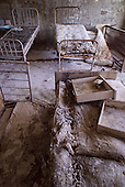 A hospital room in Pripyat, a ghost town left deserted by the nuclear disaster in the Chernobyl power station nearby. 30 years on, the city is still heavily contaminated, unfit for human life. <br /> <br /> The Chernobyl nuclear disaster happened on 26 April 1986.