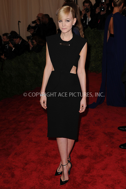 WWW.ACEPIXS.COM . . . . . .May 6, 2013...New York City.....Carey Mulligan attending the PUNK: Chaos to Couture Costume Institute Benefit Gala at The Metropolitan Museum of Art in New York City on May 6, 2013  in New York City ....Please byline: Kristin Callahan...ACEPIXS.COM...Ace Pictures, Inc: ..tel: (212) 243 8787 or (646) 769 0430..e-mail: info@acepixs.com..web: http://www.acepixs.com .