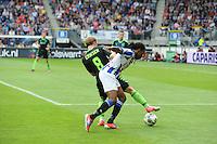 VOETBAL: HEERENVEEN: Abe Lenstra Stadion, 02-09-2012, Eredivisie 2012-2013, SC Heerenveen - Ajax, Eindstand 2-2, Christian Eriksen (#8), Arsenio Valpoort (#29), ©foto Martin de Jong