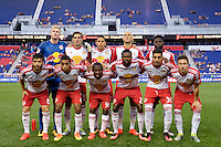 Harrison, NJ - Wednesday Aug. 03, 2016: New York Red Bulls Starting Eleven during a CONCACAF Champions League match between the New York Red Bulls and Antigua at Red Bull Arena.