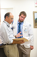 Joe Nasca, M.D., left, Joshua Price, class of 2015.