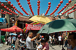 Crowds in front of the City God Temple, Lugang, Changhua County, Taiwan