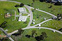 aerial photograph cemetery Colma, San Mateo county, California
