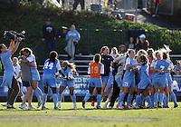 SAN DIEGO, CA - DECEMBER 02, 2012:  Players of the University of North Carolina celebrate their win at the NCAA 2012 women's college championship match, at Torero Stadium, in San Diego, CA, on Sunday, December 02 2012. Carolina won 4-1.