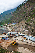 An overview of the Punatsangchu Hydro Power Project site where construction is in full swing in Punakha, Bhutan. Photo: Sanjit Das/Panos
