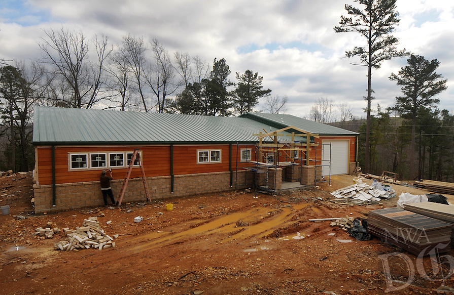 NWA Democrat-Gazette/BEN GOFF @NWABENGOFF<br /> A view of the new veterinary hospital under construction on Thursday March 3, 2016 at Turpentine Creek Wildlife Refuge in Eureka Springs.