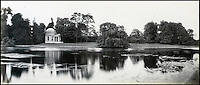 BNPS.co.uk (01202 558833)<br /> Pic: Bonhams/BNPS<br /> <br /> Prout's picture of Shakespearean actor/manager David Garrick's garden and 'Temple' at Hampton.<br /> <br /> 'Old man river, he just keeps rollin' - A remarkable collection of panoramic photographs of the Thames taken 160 years ago have emerged for auction, and they reveal how little the famous old river has changed in the last century and a half.<br /> <br /> They follow the river from London to Oxford in 40 photographs providing a fascinating insight into how the famous river looked in the mid-19th century.<br /> <br /> Londoner Victor Prout started photographing the Thames in 1857 using a camera which would produce wide-vision images because of a lens that swung round and 'scanned' sections of the picture.<br /> <br /> This rare complete copy of the first edition of Prout's pioneering panoramics has emerged for auction and is tipped to sell for &pound;12,000 when they go under the hammer at Bonhams on March 1.