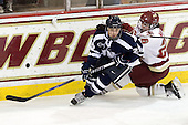 Sarah Campbell (UNH - 26), Jessica Martino (BC - 26) - The Boston College Eagles and the visiting University of New Hampshire Wildcats played to a scoreless tie in BC's senior game on Saturday, February 19, 2011, at Conte Forum in Chestnut Hill, Massachusetts.