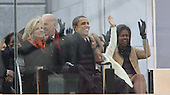"Washington, DC - January 18, 2009 -- United States President-elect Barack Obama and his wife Michelle and Jill Biden and Vice President elect Joseph Biden  at the ""We Are One"", the Obama Inaugural Celebration at the Lincoln Memorial on Sunday, January 18, 2009.  .Credit: Dennis Brack - Pool via CNP"