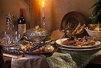 Gastronomie générale/Repas de Réveillon/Nol en Sud-Ouest:  Foie gras à la périgourdine, Magrets de canard à la forestière, poires au sauternes