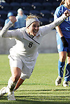 27 November 2010: Amy Rodriguez (USA) celebrates scoring a goal. The United States Women's National Team defeated the Italy Women's National Team 1-0 in the second leg of their 2011 FIFA Women's World Cup Qualifier playoff at Toyota Park in Bridgeview, Illinois. The U.S. won the series 2-0 on aggregate goals to advance.