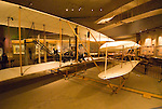 Washington DC; USA: National Air and Space Museum.  Wright Brothers Flyer airplane from Kitty Hawk, first flight..Photo copyright Lee Foster Photo # 10-washdc80127