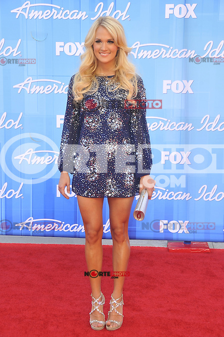 American Idol 2012 Finale Results Show at Nokia Theatre L.A. Live on May 23, 2012 in Los Angeles, California. © mpi35/MediaPunch Inc. Pictured- Carrie Underwood
