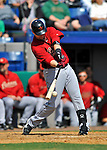 4 March 2012: Houston Astros' infielder Chris Johnson singles to lead off the 4th inning against the Washington Nationals at Space Coast Stadium in Viera, Florida. The Astros defeated the Nationals 10-2 in Grapefruit League action. Mandatory Credit: Ed Wolfstein Photo