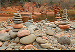 Oak Creek Cairns, Buddha Beach, Red Rock Crossing, Sedona, Arizona