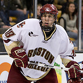 Kyle Kucharski (BC 18) - The Boston College Eagles defeated the Harvard University Crimson 6-5 in overtime on Monday, February 11, 2008, to win the 2008 Beanpot at the TD Banknorth Garden in Boston, Massachusetts. Kyle Kucharski, junior forward for the Boston College Eagles, is a free agent.