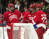 Anthony Angello (Cornell - 17), Trevor Yates (Cornell - 15), Patrick McCarron (Cornell - 27) - The Harvard University Crimson defeated the visiting Cornell University Big Red on Saturday, November 5, 2016, at the Bright-Landry Hockey Center in Boston, Massachusetts.