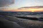 Sunset on Dunes Beach, Pinery Provincial Park, Ontario, Canada