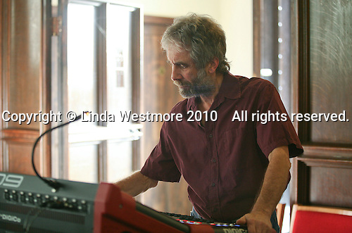 Sound engineer, St Mary's Church, Petworth Festival, West Sussex.