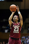 11 February 2016: Florida State's Ivey Slaughter. The Duke University Blue Devils hosted the Florida State University Seminoles at Cameron Indoor Stadium in Durham, North Carolina in a 2015-16 NCAA Division I Women's Basketball game. Florida State won the game 69-53.