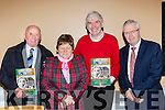 Martin Murphy, Eileen Fleming, Fr Pat Moore and author Donal Hickey at the launch of the Sliabh Luachra Journel in Gneeveguilla GAA hall on Friday night