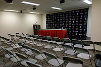 Toronto, ON, Canada - Saturday Dec. 10, 2016: Press conference room prior to the MLS Cup finals at BMO Field. The Seattle Sounders FC defeated Toronto FC on penalty kicks after playing a scoreless game.