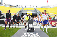 14 MAY 2011: USA and Japan players enter the stadium before the International Friendly soccer match between Japan WNT vs USA WNT at Crew Stadium in Columbus, Ohio.