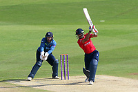 Ravi Bopara hits out for Essex as Adam Rouse looks on from behind the stumps during Kent Spitfires vs Essex Eagles, Royal London One-Day Cup Cricket at the St Lawrence Ground on 17th May 2017
