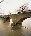 The Lima and Toledo Traction Company Bridge was construted in 1907 by the National Bridge Company of Indianapolis.  Waterville, Ohio, March, 18, 2008
