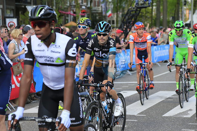 Riders including Philip Deignan (IRL) Team Sky cross the finish line in Nijmegen at the end of Stage 2 of the 2016 Giro d'Italia running 190km from Arnhem to Nijmegen, The Nethrerlands. 7th May 2016.<br /> Picture: Eoin Clarke | Newsfile<br /> <br /> <br /> All photos usage must carry mandatory copyright credit (&copy; Newsfile | Eoin Clarke)