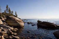 """Seagulls at Lake Tahoe 1""  -These seagulls and rocks were photographed near Sand Harbor, Lake Tahoe."