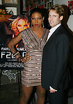 "Suzanne ""Africa"" Engo and Marc Bouwer President Paul Margolin, attend MARC BOUWER's EXCLUSIVE SCREENING of the FW2010 film starring CANDICE SWANEPOEL at the Leo Kesting Gallery , New York-  -February 18, 2010"