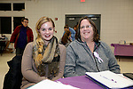Prospect, CT- 18 January 2017-011817CM21-  Social Moments---From left to right, Chelsey Bisaillon of Waterbury and Kate Ruane of Plymouth are photographed during Relay For Life of Greater Waterbury 2017 kick-off celebration at the Prospect Volunteer Fire Department on Wednesday.    Christopher Massa Republican-American
