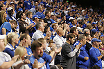 UK fans cheer and clap after forward Patrick Patterson dunks the ball during the second period of the Blue and White scrimmage at Rupp Arena Wednesday night..Photo by Zach Brake | Staff