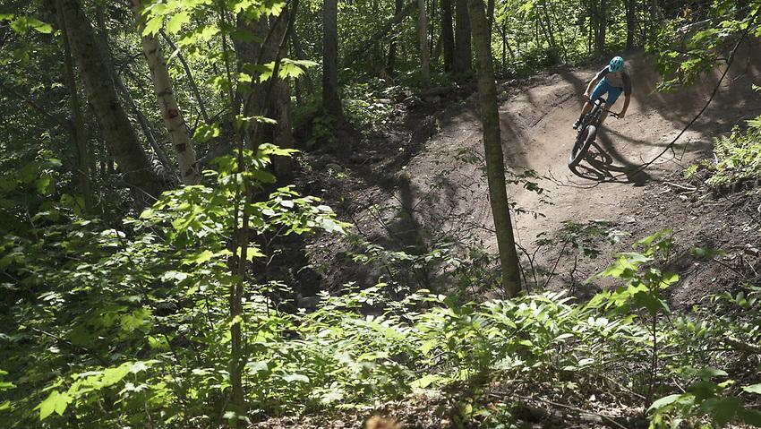 Mountain biking the NTN South Trails of Marquette, Michigan
